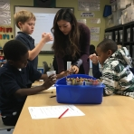 Step 1 Student Fall 2015 teaching an elementary STEM class