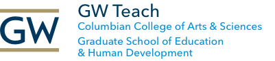 GW Teach, Columbian College of Arts & Sciences, Graduate School of Education & Human Development